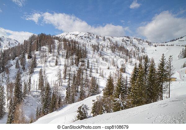 winter alpine landscape - csp8108679