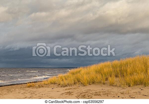 Winter at Baltic Sea in Riga - csp53556297