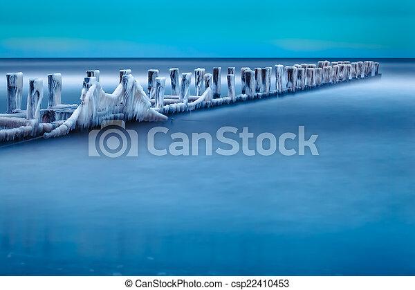 Winter at the Shore - csp22410453