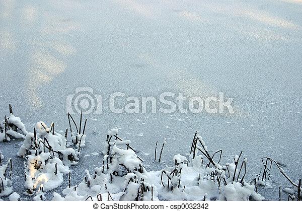 Winter background 1 - csp0032342