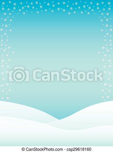 Winter Background - csp29618160