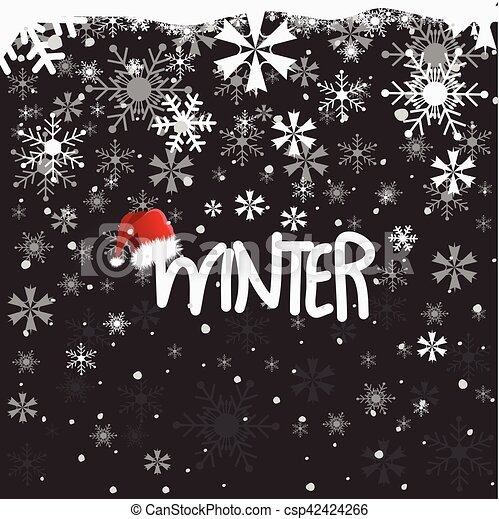 Winter background - csp42424266