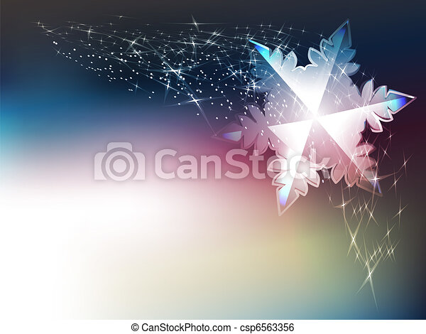 Winter background - csp6563356