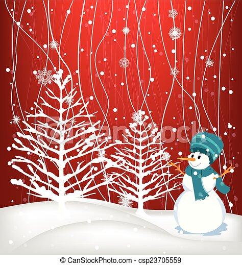 Winter Background - csp23705559