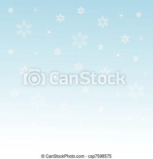 winter background - csp7598575