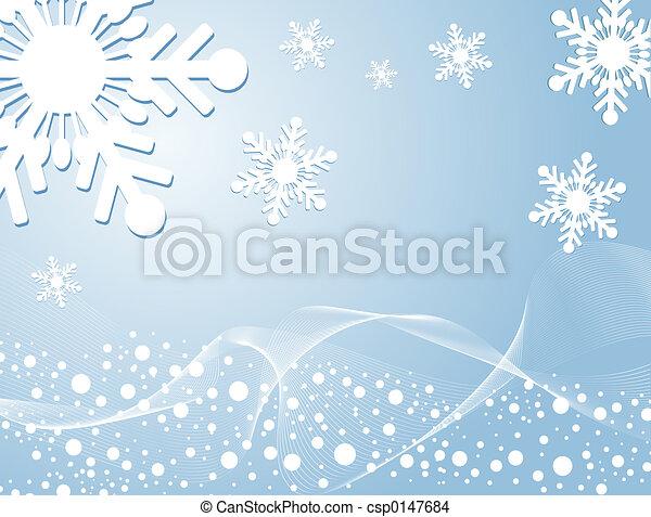 Winter background - csp0147684