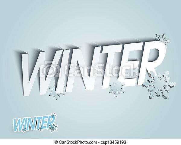 Winter background - csp13459193