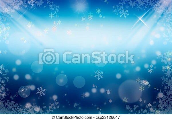 Winter background - csp23126647
