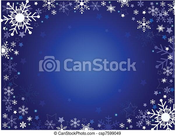 winter background - csp7599049