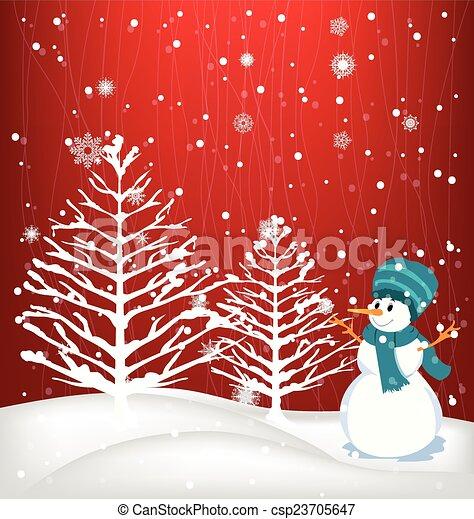 Winter Background - csp23705647