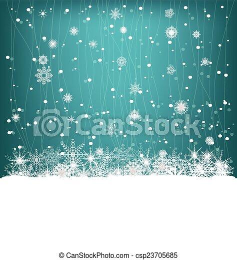 Winter Background - csp23705685