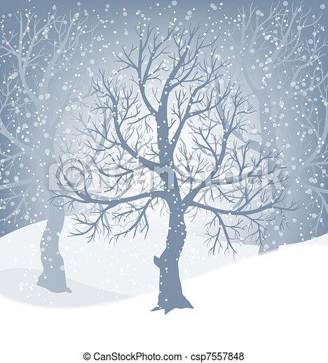 Winter background - csp7557848