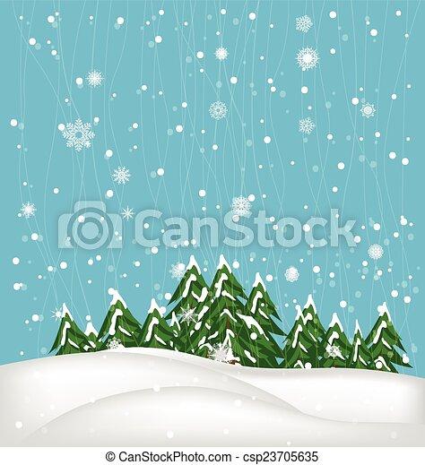 Winter Background - csp23705635