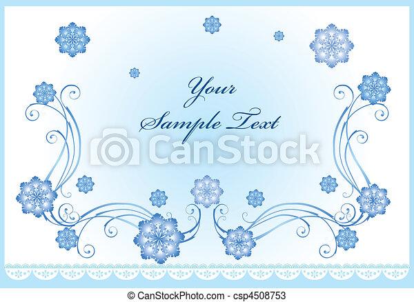winter background - csp4508753