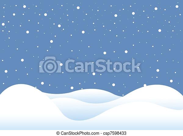 winter background - csp7598433