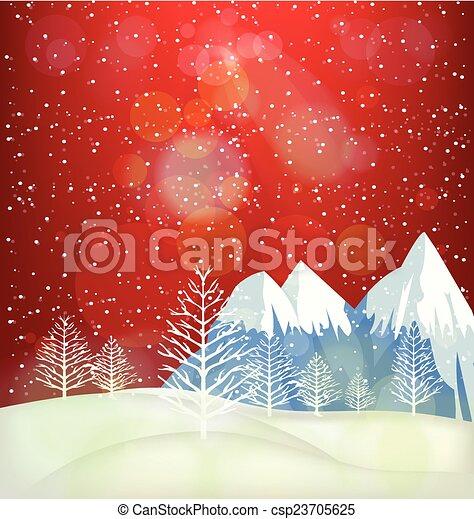 Winter Background - csp23705625