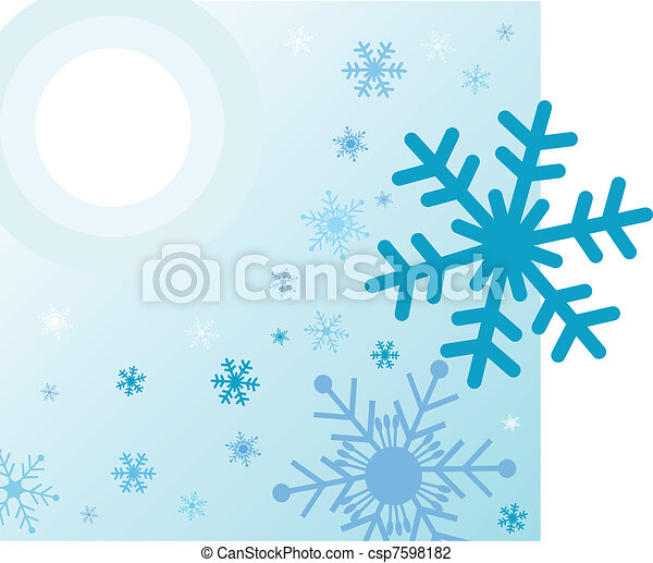 winter background - csp7598182