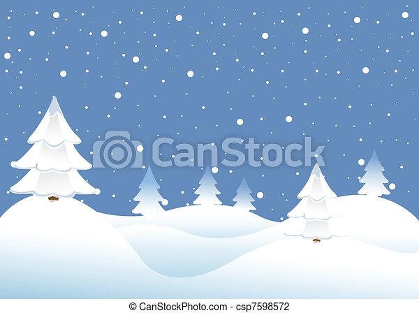 winter background - csp7598572