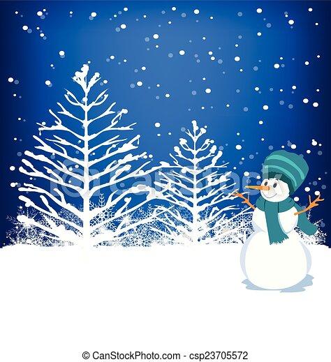 Winter Background - csp23705572