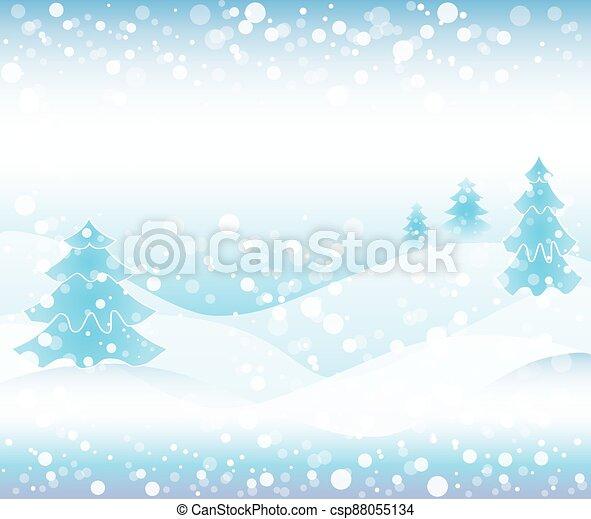 Winter background scene - csp88055134