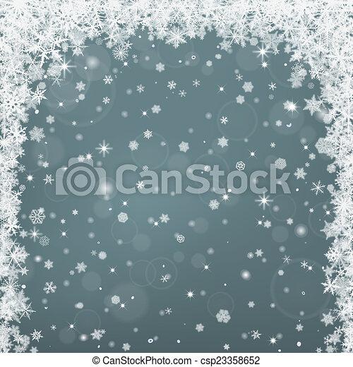 Winter background - csp23358652
