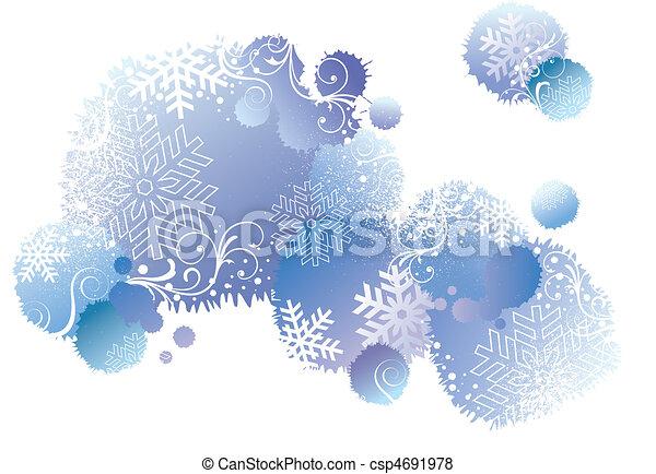 winter background, vector  - csp4691978
