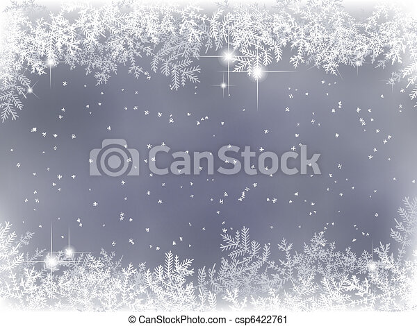 winter background with Christmas decoration - csp6422761