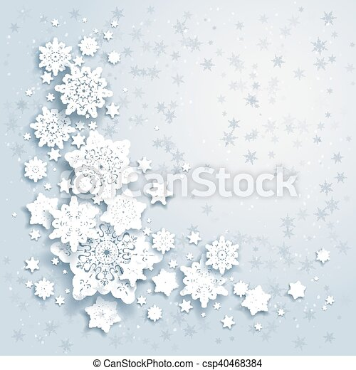 Winter background with snowflakes - csp40468384