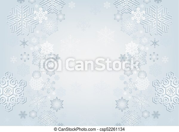 Winter Background with Snowflakes - csp52261134