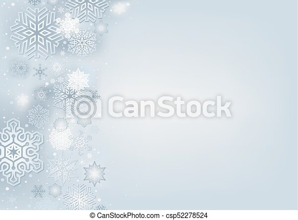 Winter Background with Snowflakes - csp52278524