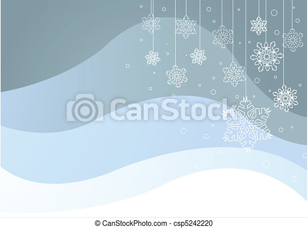 Winter background with snowflakes - csp5242220