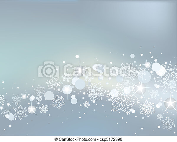 Winter background with white snowfl - csp5172390