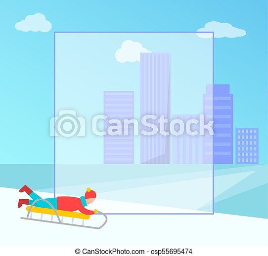 Winter Banner and Filling Form Vector Illustration - csp55695474