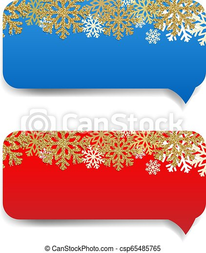 Winter Banner With Snowflake Border - csp65485765