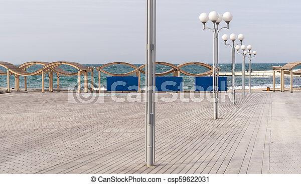 Winter beach on black sea - csp59622031
