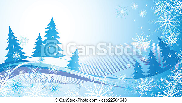 Winter blue background - csp22504640