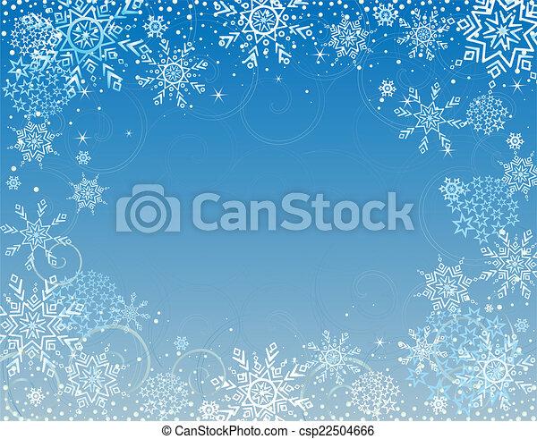 Winter blue card - csp22504666