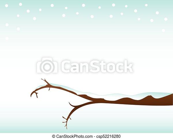 Winter Branch Template Background - csp52216280