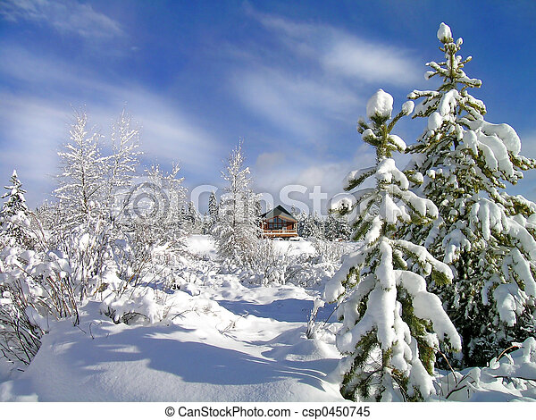 Winter Cabin - csp0450745
