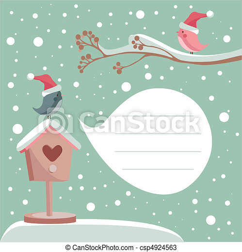 winter card with place for your text - csp4924563