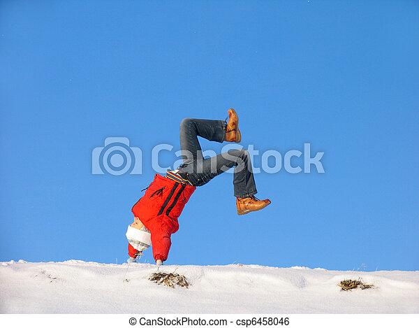 Winter cartwheel - csp6458046