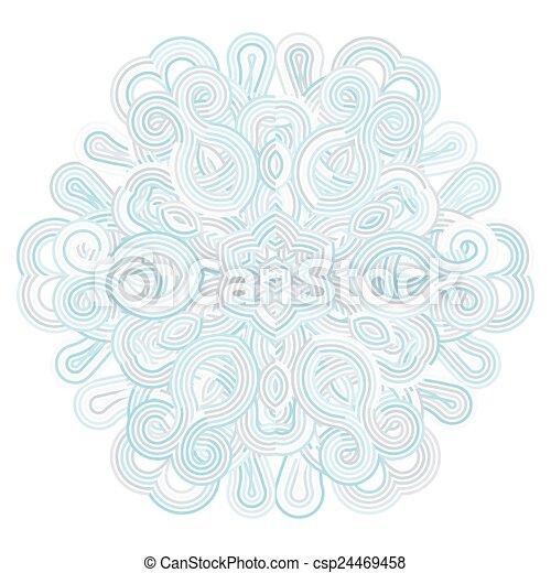 winter celtic knot pattern card, mandala, amulet - csp24469458