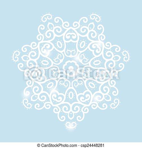 winter celtic knot pattern card, mandala, amulet - csp24448281