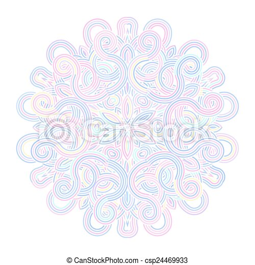 winter celtic knot pattern card, mandala, amulet - csp24469933