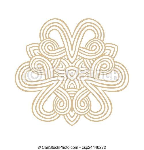 winter celtic knot pattern card, mandala, amulet - csp24448272