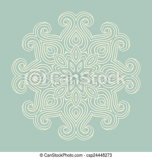 winter celtic knot pattern card, mandala, amulet - csp24448273