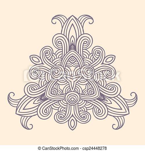 winter celtic knot pattern card, mandala, amulet - csp24448278
