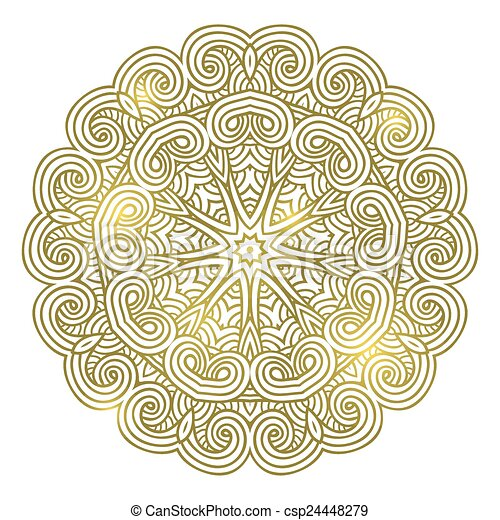 winter celtic knot pattern card, mandala, amulet - csp24448279