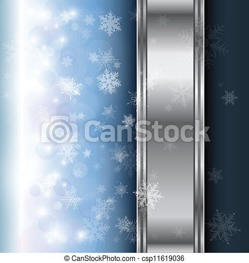 Winter christmas background  - csp11619036