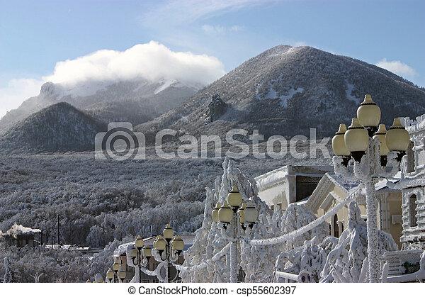 Winter day on Caucasus. - csp55602397